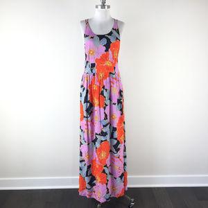 Ann Taylor LOFT M 8 Multi Color Floral Maxi dress
